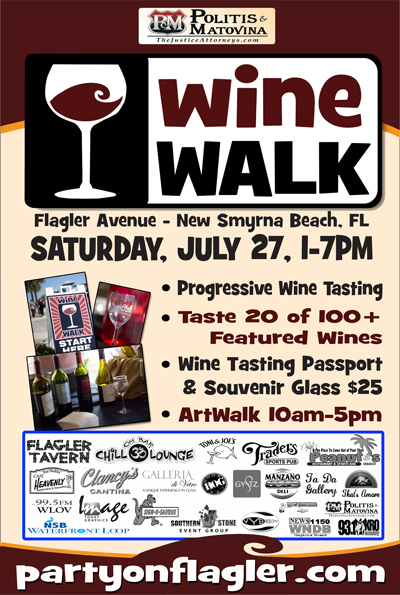 Wine Walk on Flagler Avenue