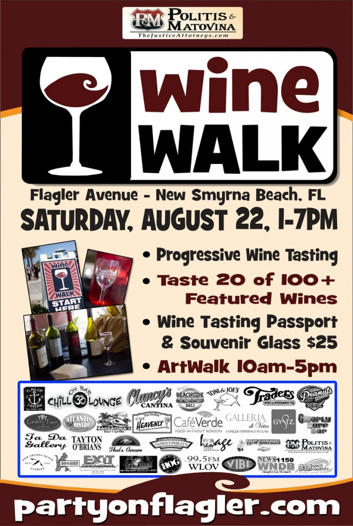 New Smyrna Beach Wine Walk on Flagler Avenue